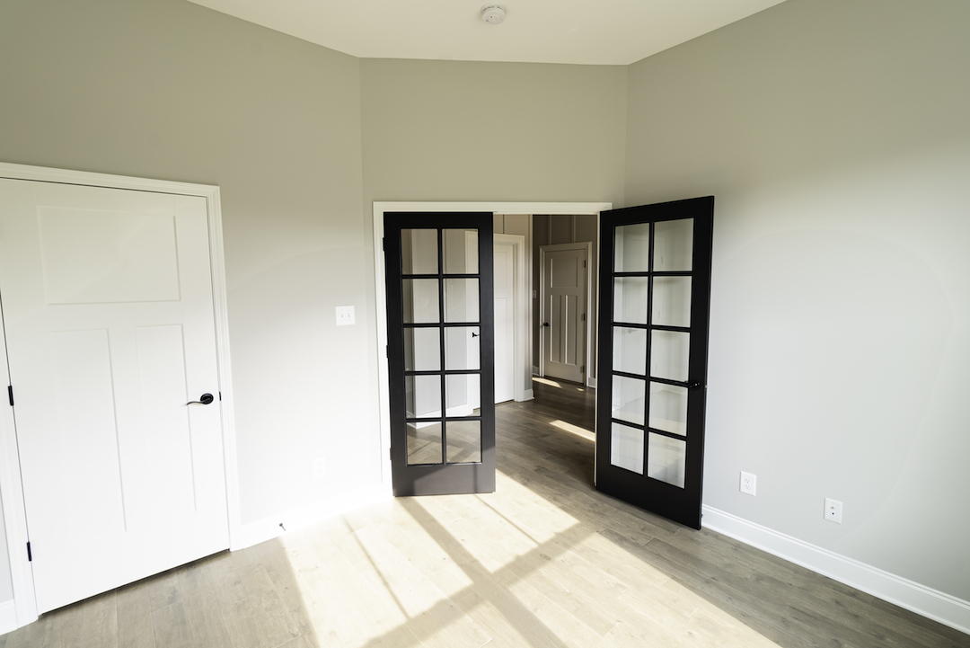 Redwood Office French Doors