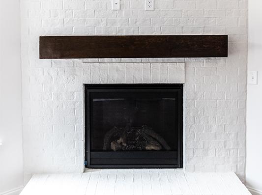 Birch Fireplace