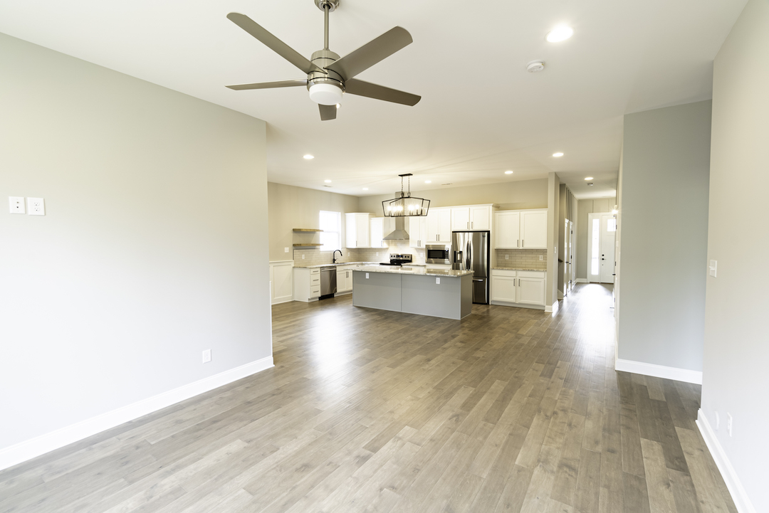 Redwood Kitchen + Living Space