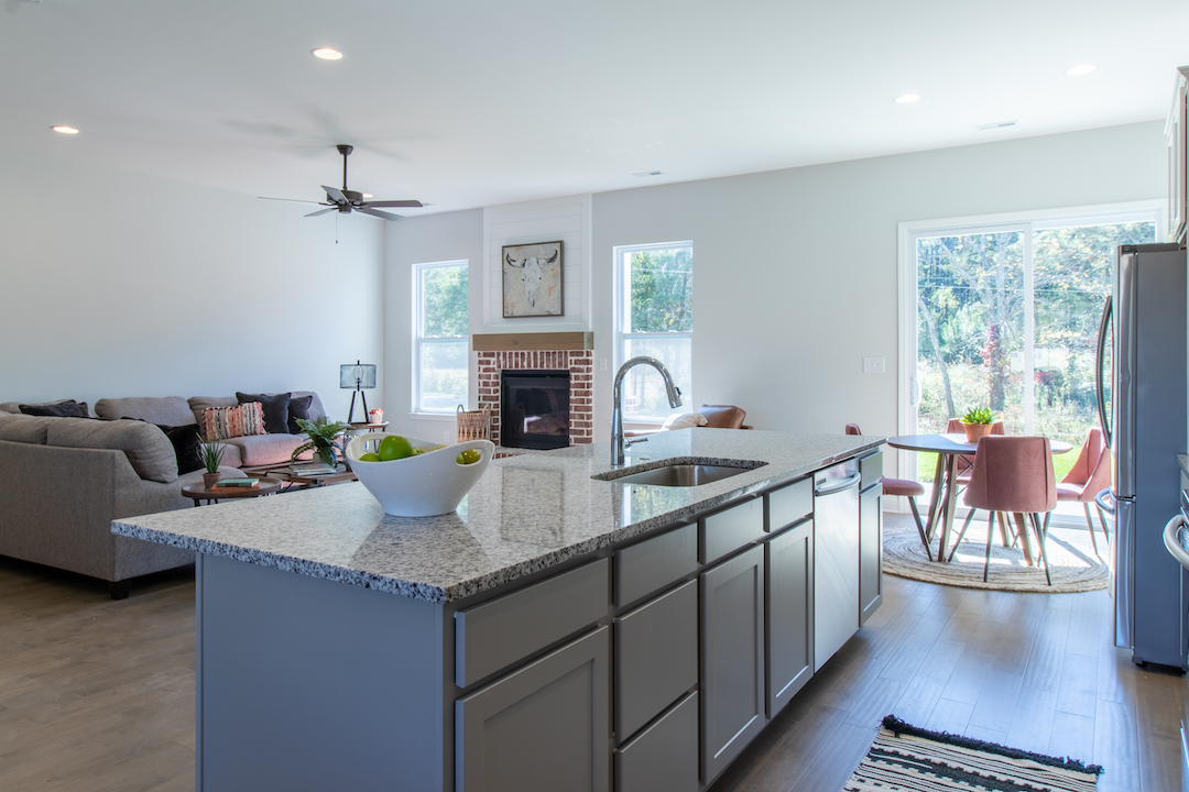 Alder Open Kitchen + Living Space