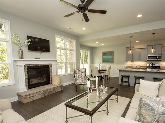 Cedar Open Living Room + Kitchen