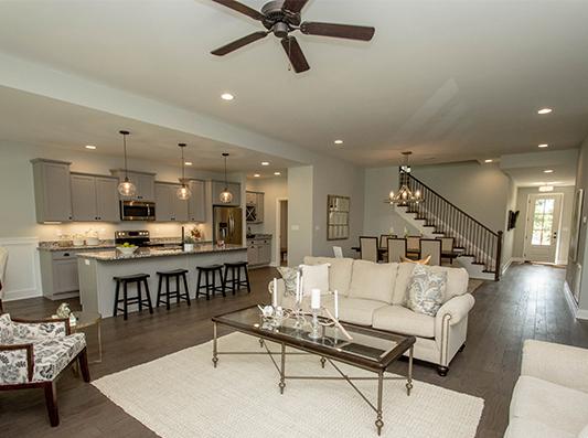 Cedar Open Living + Kitchen Space