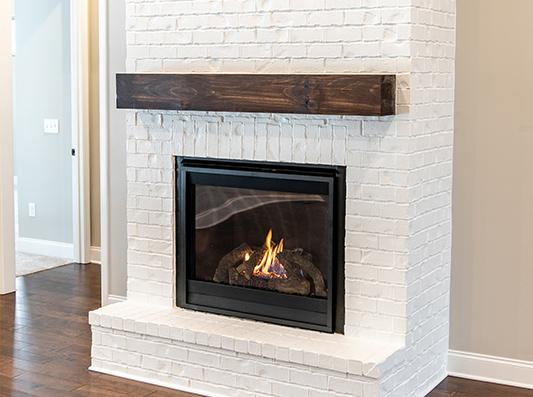 Cottonwood Living Room Fireplace