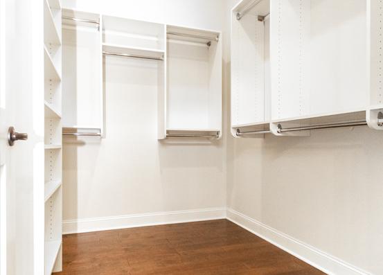 Redwood Master Walk-In Closet