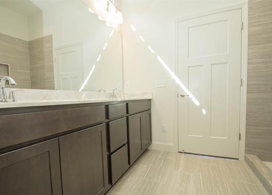 Redwood Master Bathroom with Double Vanity